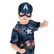 Fantasia Capitão America 2 Curta Infantil Vingadores Rubies