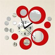 Relógio de Parede Digital Criativo Vermelho - Kit 20 Peças