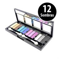 Kit Maquiagem de Sombras 12 cores Ruby Rose Glamour Hb-912