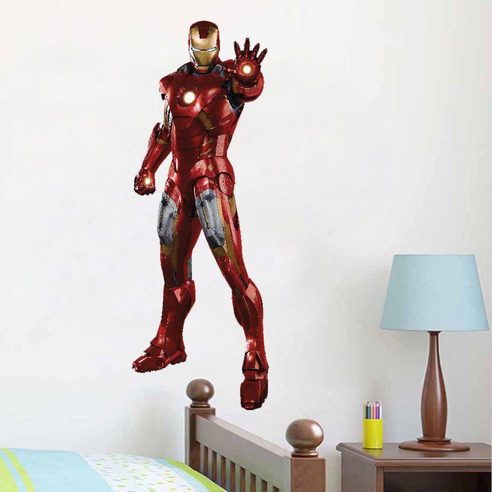 Como Conseguir Adesivo De Idoso ~ Adesivo Infantil Parede Iron Man Homem De Ferro Vingadores
