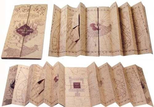 Mapa do Maroto - Harry Potter - Noble Collection
