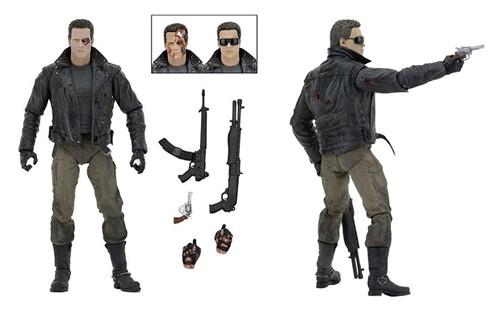 The Terminator T-800 Exterminador Schwarzenegger (Assalto da delegacia de polícia) - NECA