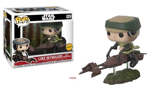 Luke Skywalker no Speeder Bike Deluxe #228 Star Wars O retorno de Jedi - Funko POP EXCLUSIVO