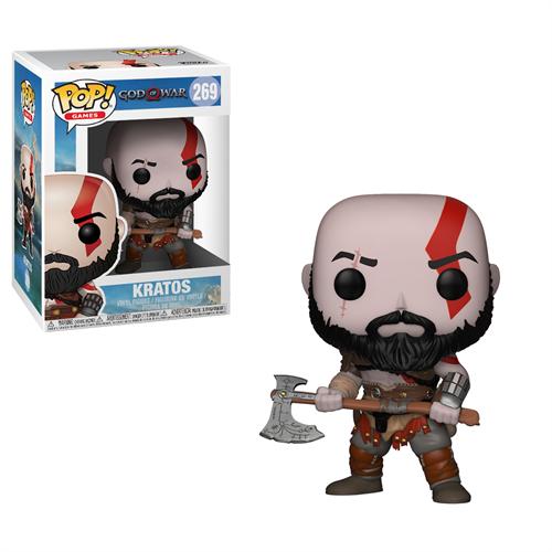 Kratos c/ Machado - God of War - Funko POP Games