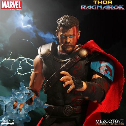 Thor - Thor: Ragnarok MARVEL Escala 1/12 Articulado - Mezco Toys