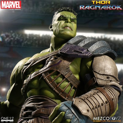 Hulk Gladiator Gladiador - Thor: Ragnarok MARVEL Escala 1/12 Articulado - Mezco Toys