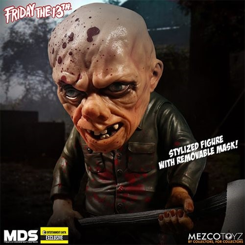 Jason Voorhees Bloody Friday the 13th Bloody GITD Mask Stylized - Mezco Entertainment Earth Exclusive