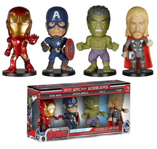 The Avengers Age of Ultron - Pack Mini Figuras Funko 4 Personagens