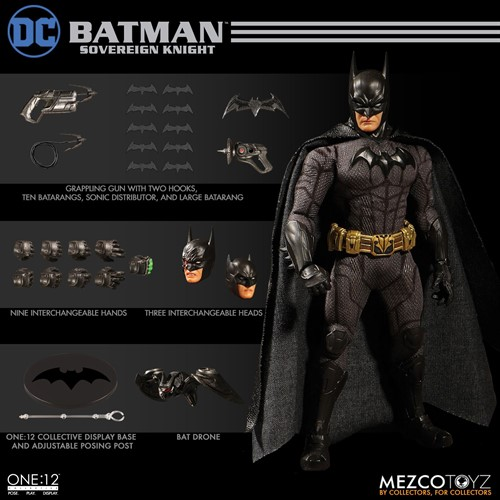 Batman: Sovereign Knight DC COMICS - Escala 1/12 Action Figure - Mezco Toys