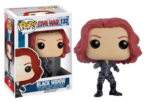Black Widow Viúva Negra - Capitão America 3 - Guerra Civil - Funko POP MARVEL