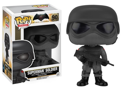Superman Soldier - Batman vs Superman Origem da Justiça - DC Comics Funko POP Filmes