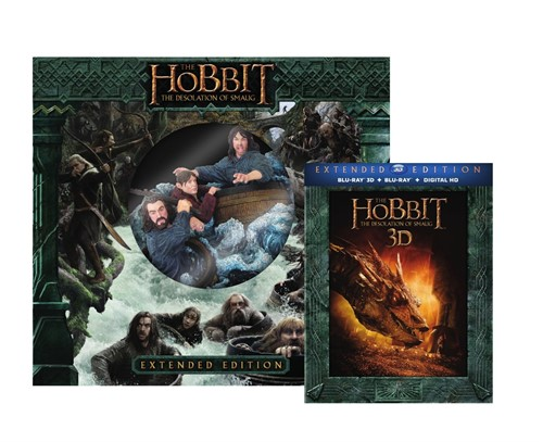 The Hobbit Desolação De Smaug Estendida Blu Ray 3d Gift Set