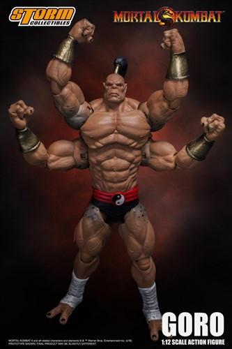 Goro - Mortal Kombat 1:12 Action Figure - Storm Collectibles