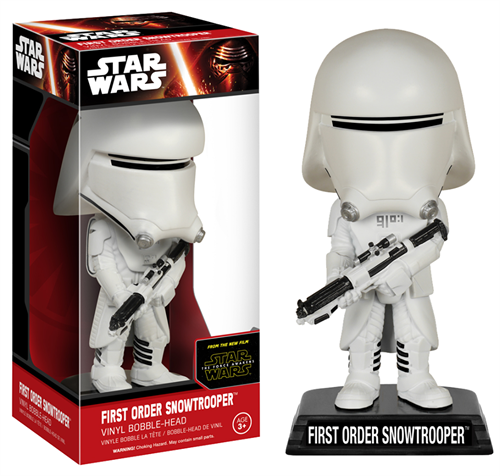 First Order Snow Trooper Star Wars - O Despertar da Força - Funko Bobble Head