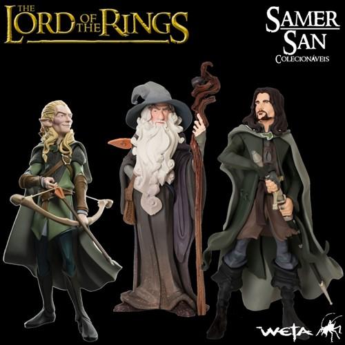 Kit Mini Epics: Aragorn, Gandalf The Gray e Legolas + BRINDE - O Senhor dos Anéis Hobbit - WETA