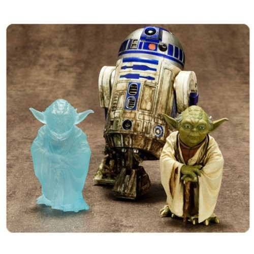 Pack Yoda e R2-D2 Dagobah Star Wars ArtFX+ Estátua 1/10 - Kotobukiya