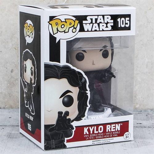 Kylo Ren Unmasked Star Wars - O Despertar da Força - Funko POP Bobble Head