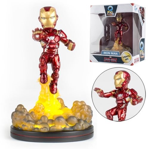 Iron Man Light-Up FX Diorama MARVEL Q-Fig - QUANTUM MECHANIX