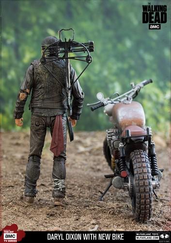 Daryl Dixon nova moto - The Walking Dead Series - Deluxe Box Set McFarlane Toys