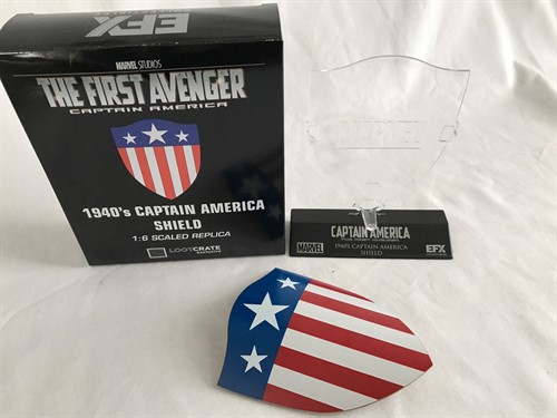 Capitão America First Avenger MARVEL 1940'S SHIELD MINI REPLICA ESCUDO (Loot Crate Exclusivo)