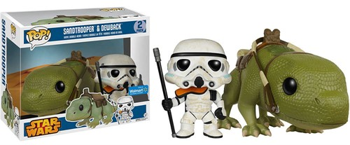 Sandtrooper and Dewback Star Wars - Funko POP Exclusivo Walmart