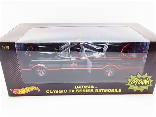Batman 1966 Batmobile 1:18 TV Series Black Diecast 1/18 - Hot Wheels