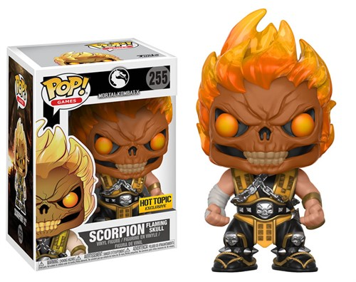 Scorpion Flaming Skull - Mortal Kombat - Funko POP Games Exclusivo HOT TOPIC