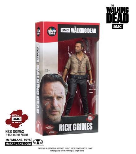 Rick Grimes  - The Walking Dead Action Figure - McFarlene Toys Color Tops Series
