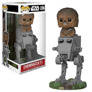 Chewbacca no AT-ST Star Wars - Funko POP Bobble Head