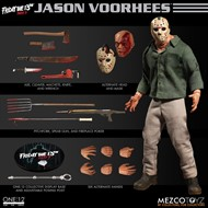 Jason Voorhees Friday The 13th Sexta-Feira 13 Parte 3 - Escala 1/12 Action Figure - Mezco Toys