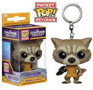 Rocket - Guardiões da Galáxia Marvel - Funko Pop Pocket Chaveiro