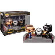 Batman e Comissario Gordon Light-Up Bat Sinal DC COMICS Funko Pop Movie Moments