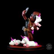 Deadpool com unicornioselfie MARVEL Q-Fig - QUANTUM MECHANIX