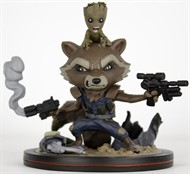 Rocket e Groot - Guardiões da Galáxia Vol. 2 - MARVEL - Q-Fig - QUANTUM MECHANIX