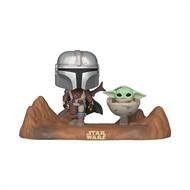 Mandalorin e Yoda Child Criança - Star Wars: The Mandalorian - Funko POP TV Moment Star Wars Disney
