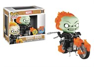Ghost Rider e Bike Motoqueiro Fantasma MARVEL - Funko Pop EXCLUSIVO