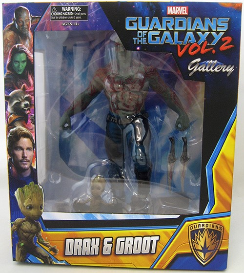 Marvel Select Drax /& Baby Groot Guardians of the Galaxy Vol 2 Action Figure