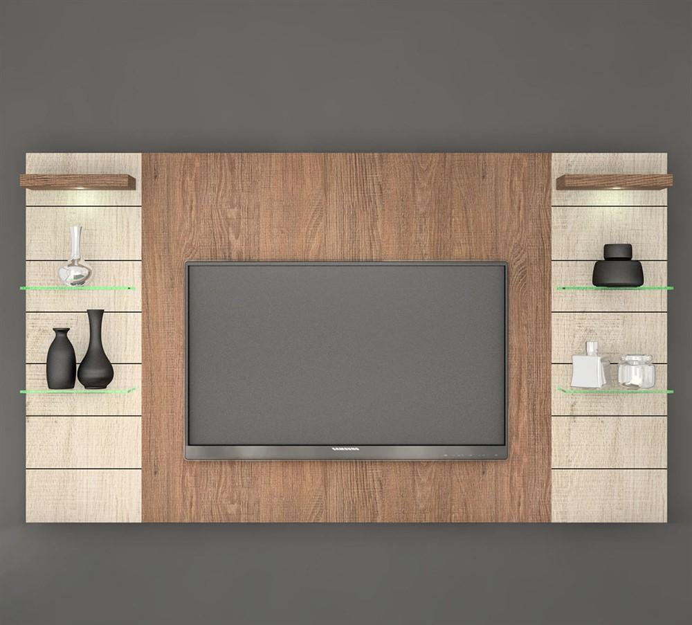 Painel Para Tv Veneza Com Lumin Ria De Led 240cm Knr Comprar  -> Foto Painel Para Tv