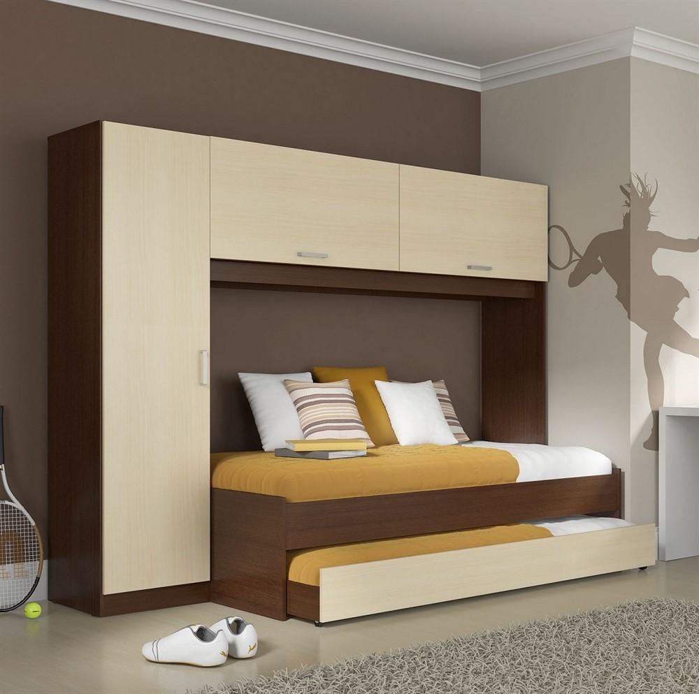 Guarda roupa 1900 com cama de solteiro e cama auxiliar 354 - Cama escondida en mueble ...