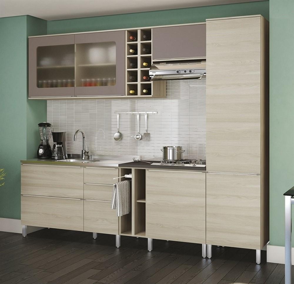 Cozinha Modulada 9 Pe As Versatti Nacre Moka N3 Kappesberg