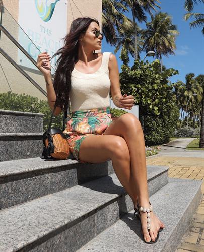 Shorts Floral com Amarração (V19088)