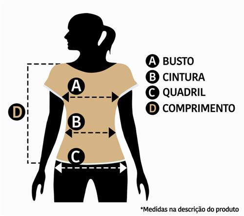 T-Shirt com Listas (V19185)