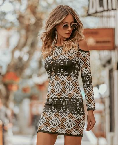 Vestido Arabesco Ombro Aberto (A3042)