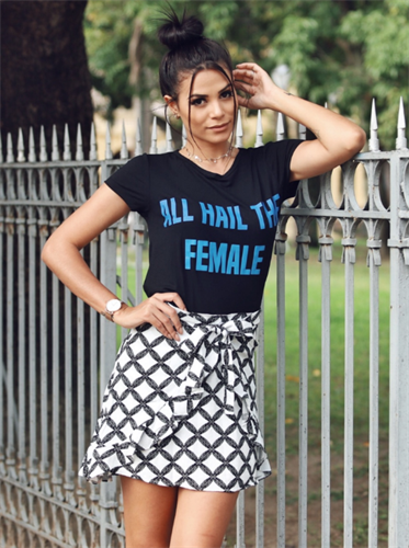 T-Shirt All Hail The Female (V17304)