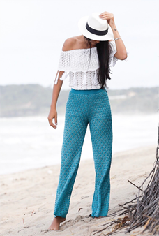 Calça Pantalona de Tricot (V16208)