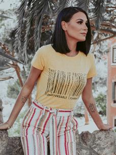 T-Shirt Codigo de Barras (V19318)