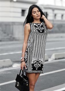 Vestido P&B (A2504)