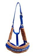Cabresto Personalizado com Nome do seu Cavalo (Azul Royal)
