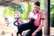 Polo Feminina Showjumping DRESSUR Rosa/Vinho