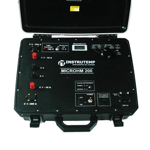 Microhmimetro Digital ITMICROHM 200